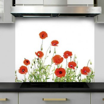 credence-hotte-decor-coquelicots